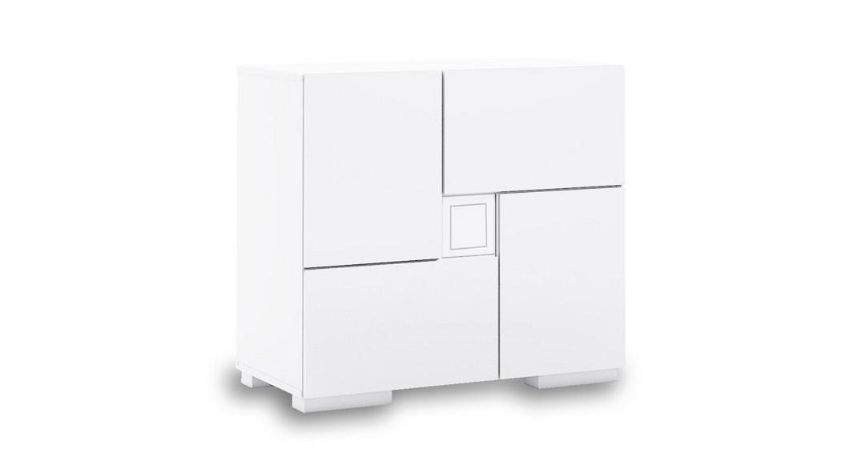 cómoda bebé cambiador mueble cajones estantes clip D206-G2300 de frente montada