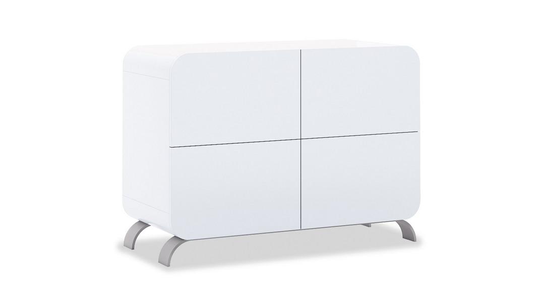 cómoda bebé cambiador mueble diseño original kurve+ D217-M7700 de frente montada