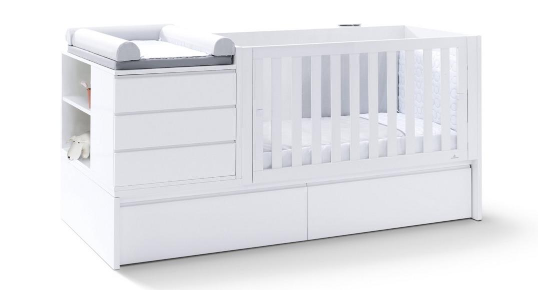 cuna convertible neo modular blanco cama K501C-2300 montada etapa baby