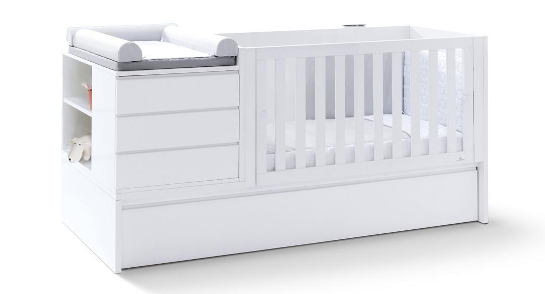 cuna convertible neo plus modular habitación K601N-2300 montada etapa baby