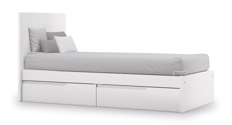 cama para niños blanca evolutive QC502C-2300 montada