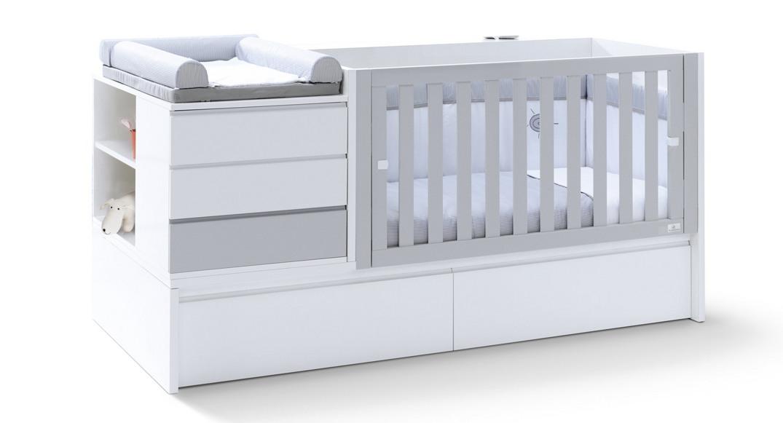 cuna convertible neo modular blanco cama K501C-2314 montada etapa baby