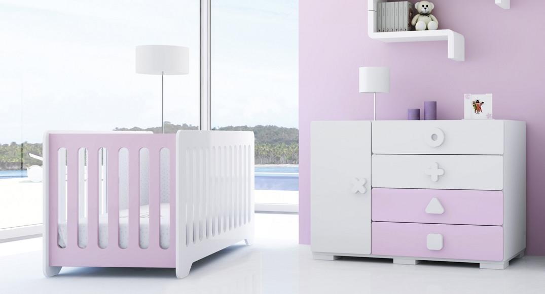 cuna y comoda bebe moderna para niña
