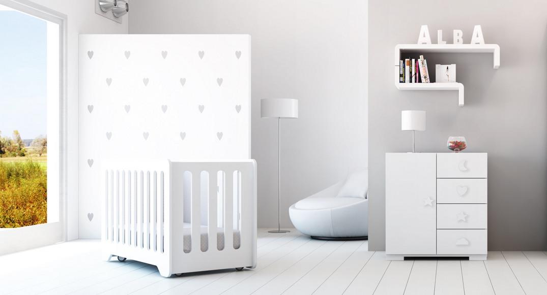 cuna y cómoda para bebés