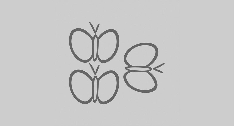vinilo dibujos infantiles mariposas Y2D-MAR3 del dibujo infantil