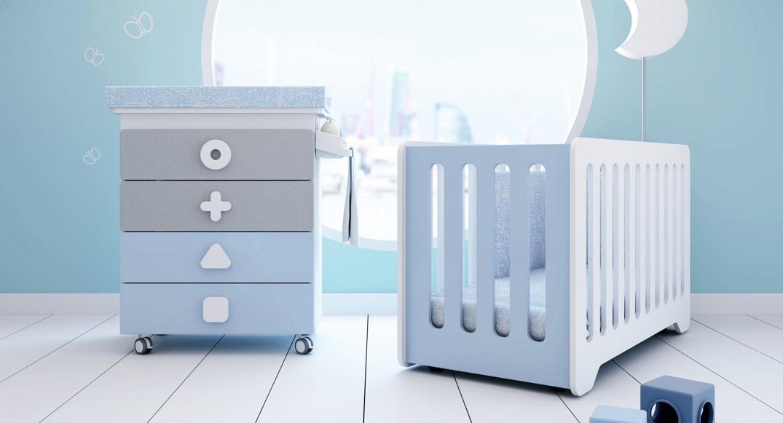 cuna y mueble bañera para bebés