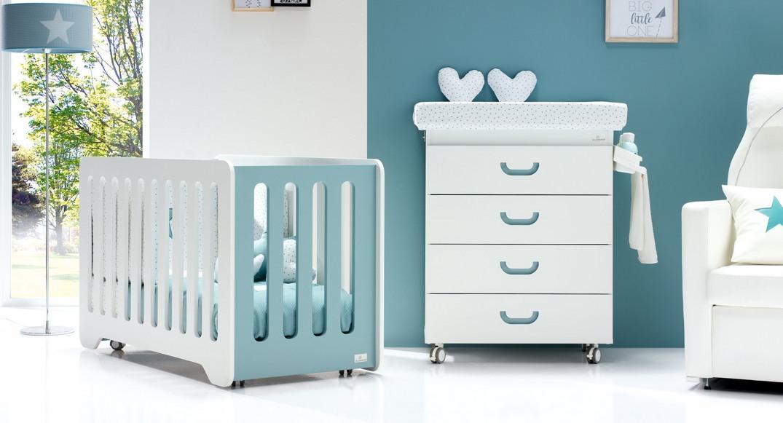 Cuna y mueble bañera para bebé con cambiador Joy