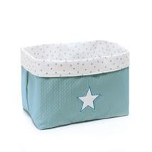 cesta infantil tela cesta color mint verde agua 181 Alondra