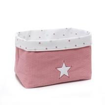 cesta infantil tela cesta color rosa empolvado 182 Alondra