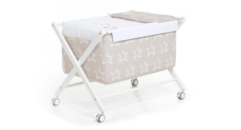 minicuna bebé de tijera 670-K1423 montada con ruedas