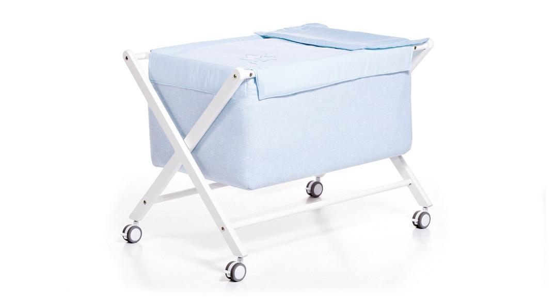 minicuna bebé madera 670-X6123 montada con ruedas