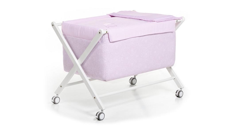 minicuna bebé madera 670-Y6223 montada con ruedas
