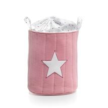 baúl juguetero tela color rosa empolvado 182 Alondra