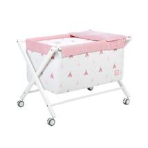 minicuna color rosa con detalles infantiles 112 Alondra