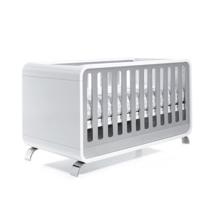 cuna cama escritorio 70x140cm color blanco y gris C137 Alondra