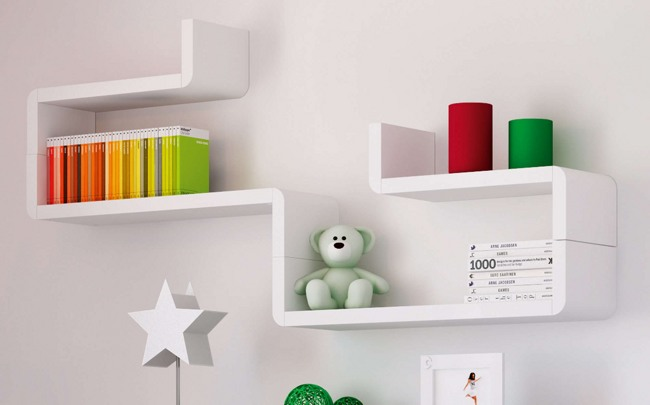 Baldas modulares infantiles de pared originales - Estanterias originales de pared ...