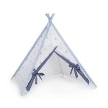 tipi cabaña de indios color celeste con detalles infantiles 111 Alondra