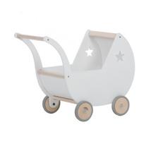 juguete infantil carrito madera blanco Alondra