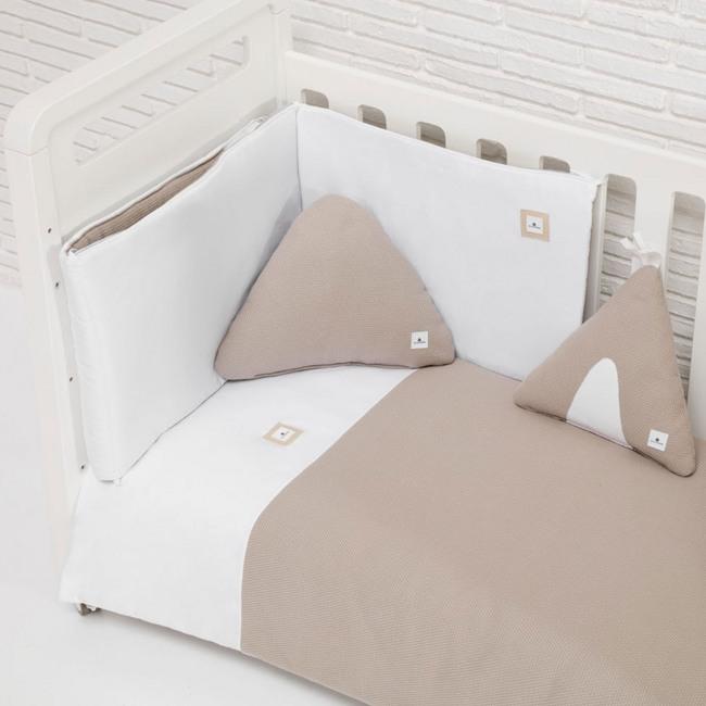 Textil bebé y ropa de cuna Alondra beige arena