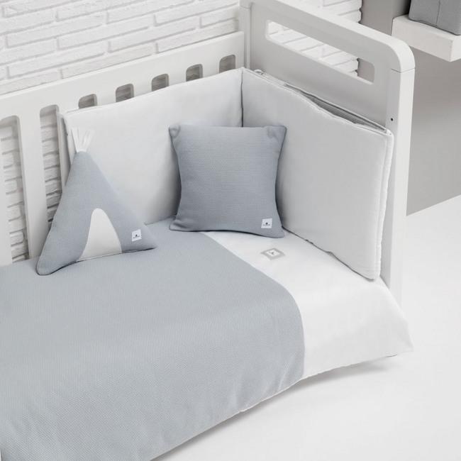 Textil y ropa de cuna Alondra gris unisex