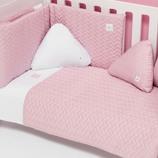 Textil bebé y ropa de cuna Alondra rosa