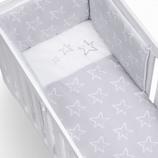 Textil bebé y ropa de cuna Alondra gris plata