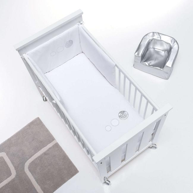 Textil bebé y ropa de cuna Alondra blanco y plata