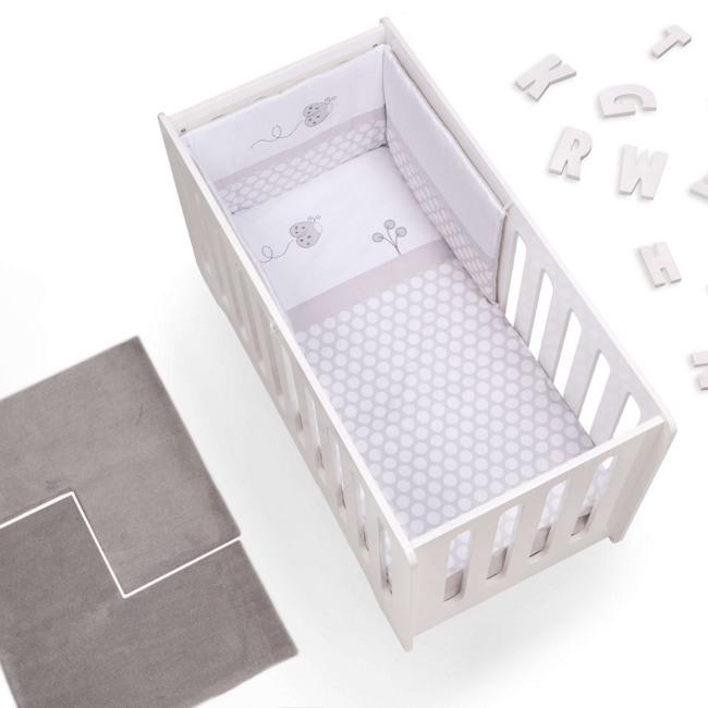 Textil bebé y ropa de cuna Alondra gris claro