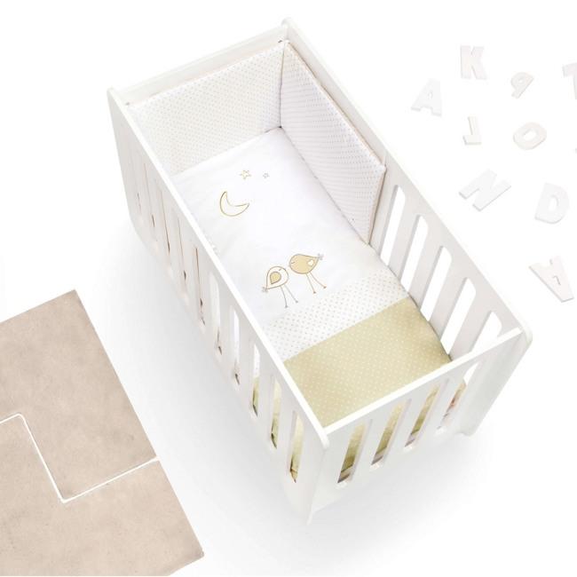 Textil bebé y ropa de cuna Alondra blanco y beige