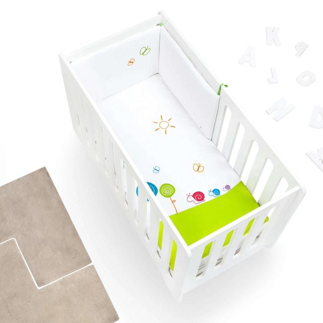 Textil bebé y ropa de cuna Alondra multicolor y blanco