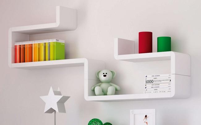 Baldas modulares infantiles de pared originales for Dormitorios infantiles originales