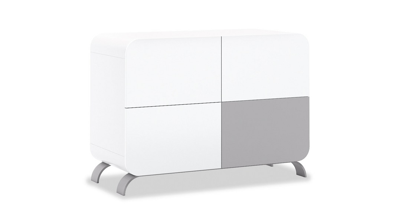 cómoda bebé cambiador mueble diseño original kurve+ D217-M7778 de frente montada
