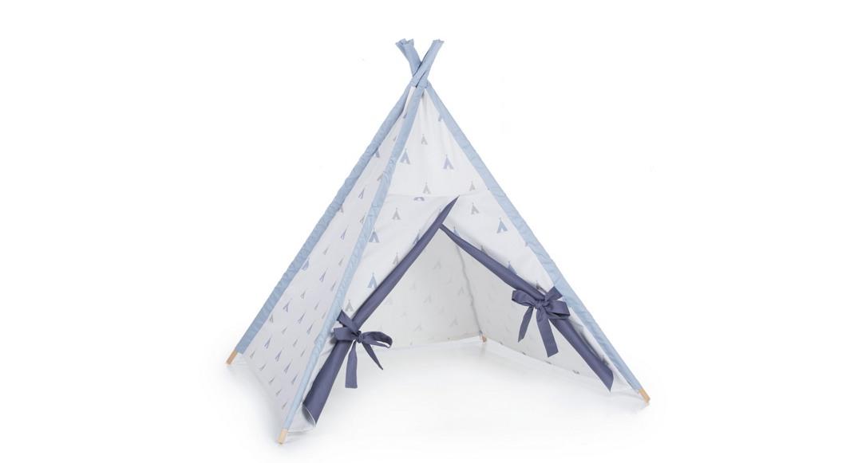 tipi cabaña de indios coordinado textil Alondra indiana blu 111