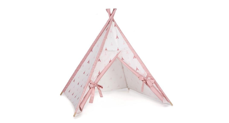 tipi cabaña de indios coordinado textil Alondra indiana rosa 112