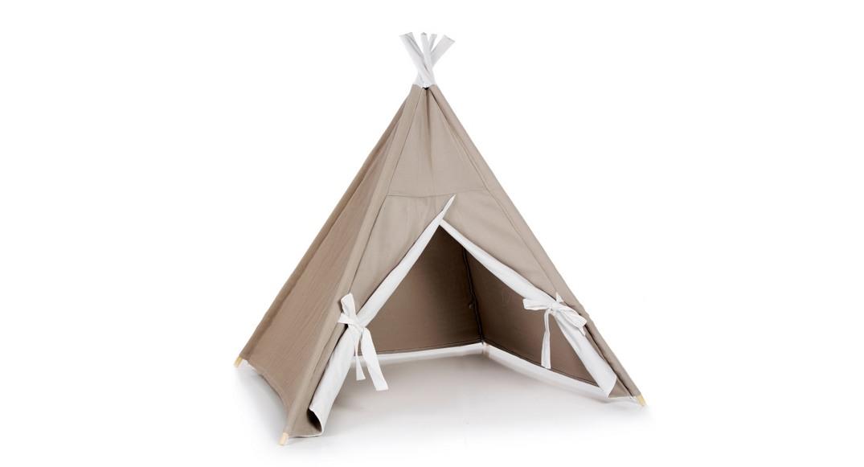 tipi cabaña de indios coordinado textil Alondra arena 153