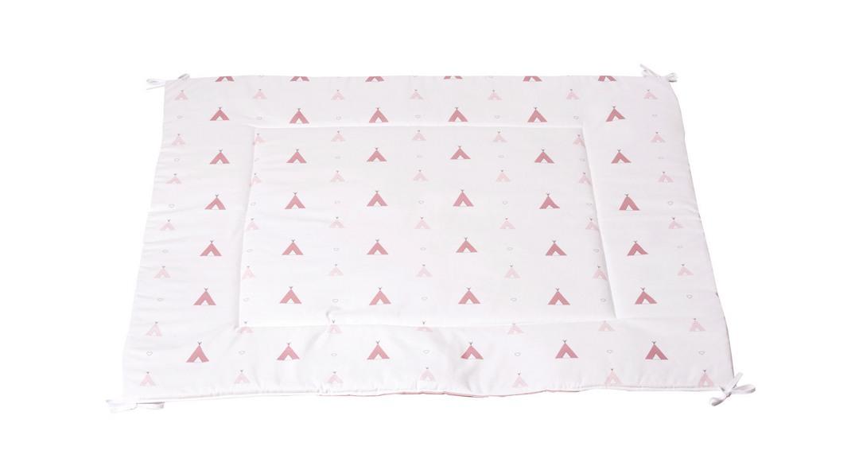 alfombra tipi coordinado textil Alondra indiana rosa 112