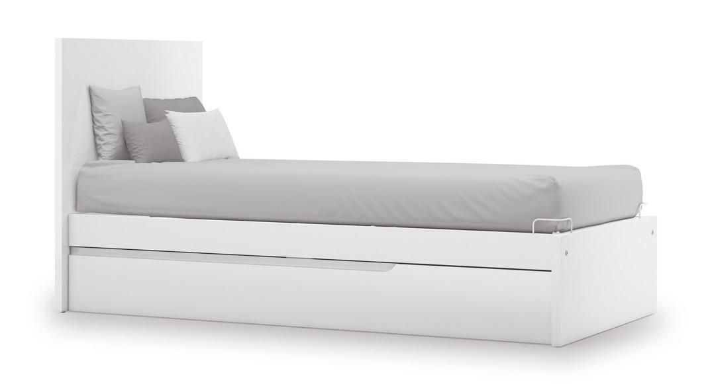 cama para niños blanca evolutive QC502N-2300 montada