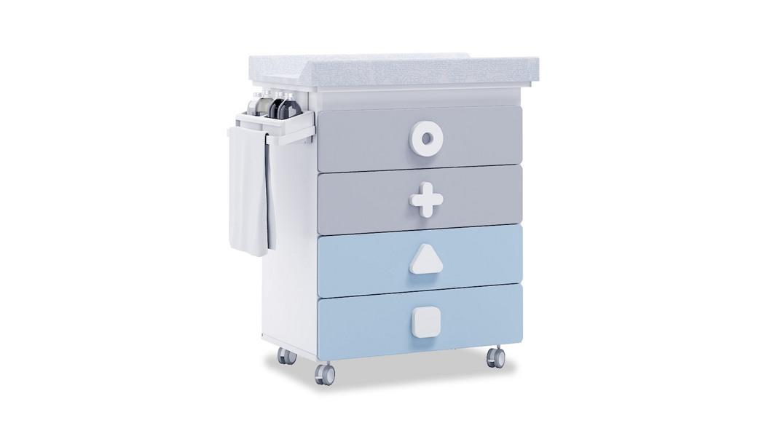 mueble bañera cambiador comoda colores maths B750-1417 montada con ruedas