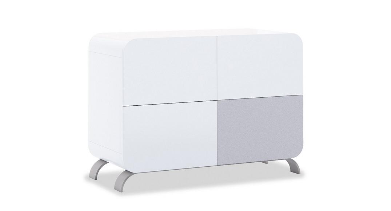 cómoda bebé cambiador mueble diseño original kurve D217-3314 de frente montada