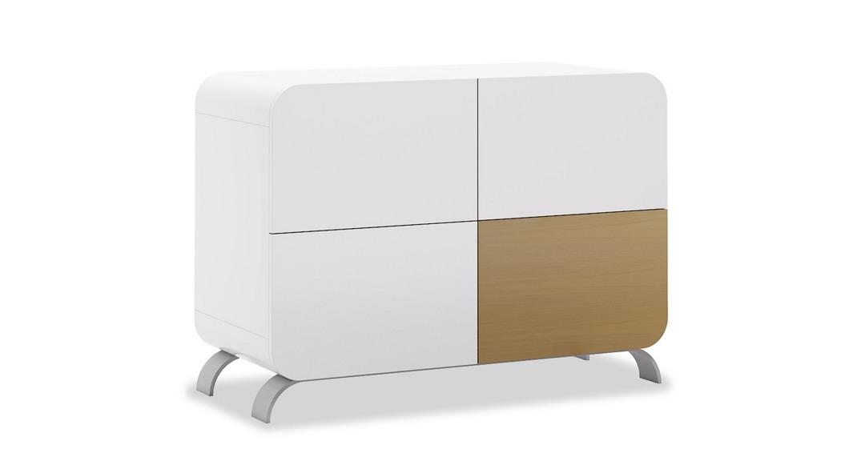 cómoda bebé cambiador mueble madera diseño kurve D217M-3391 de frente montada