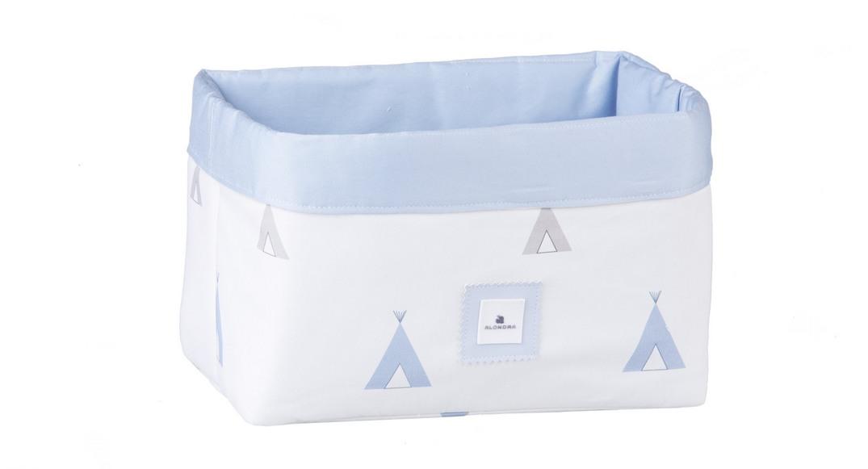cesta colonias infantiles coordinado textil Alondra indiana blu 111