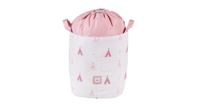saco de juguetes textil coordinado textil Alondra indiana rosa 112