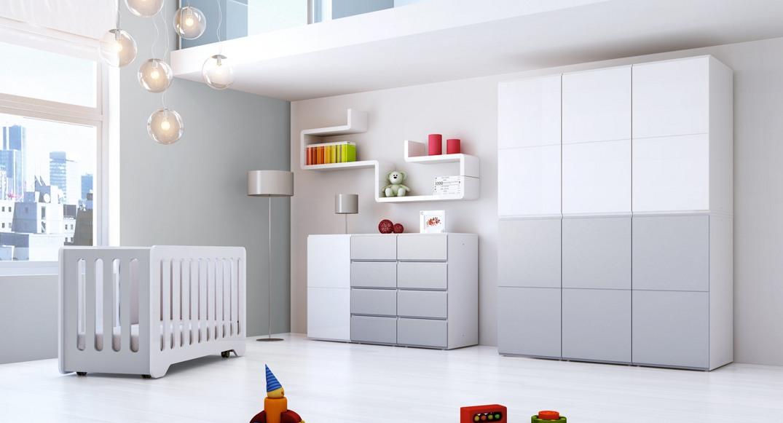 muebles infantiles blanco gris
