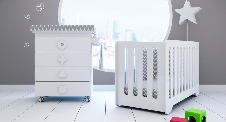 Cuna y bañera cambiador para bebé de diseño Alondra