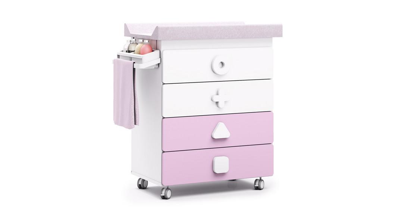 mueble bañera cambiador comoda colores maths B750-1418 montada con ruedas
