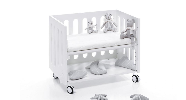 minicuna colecho de Alondra blanca ruedas metal
