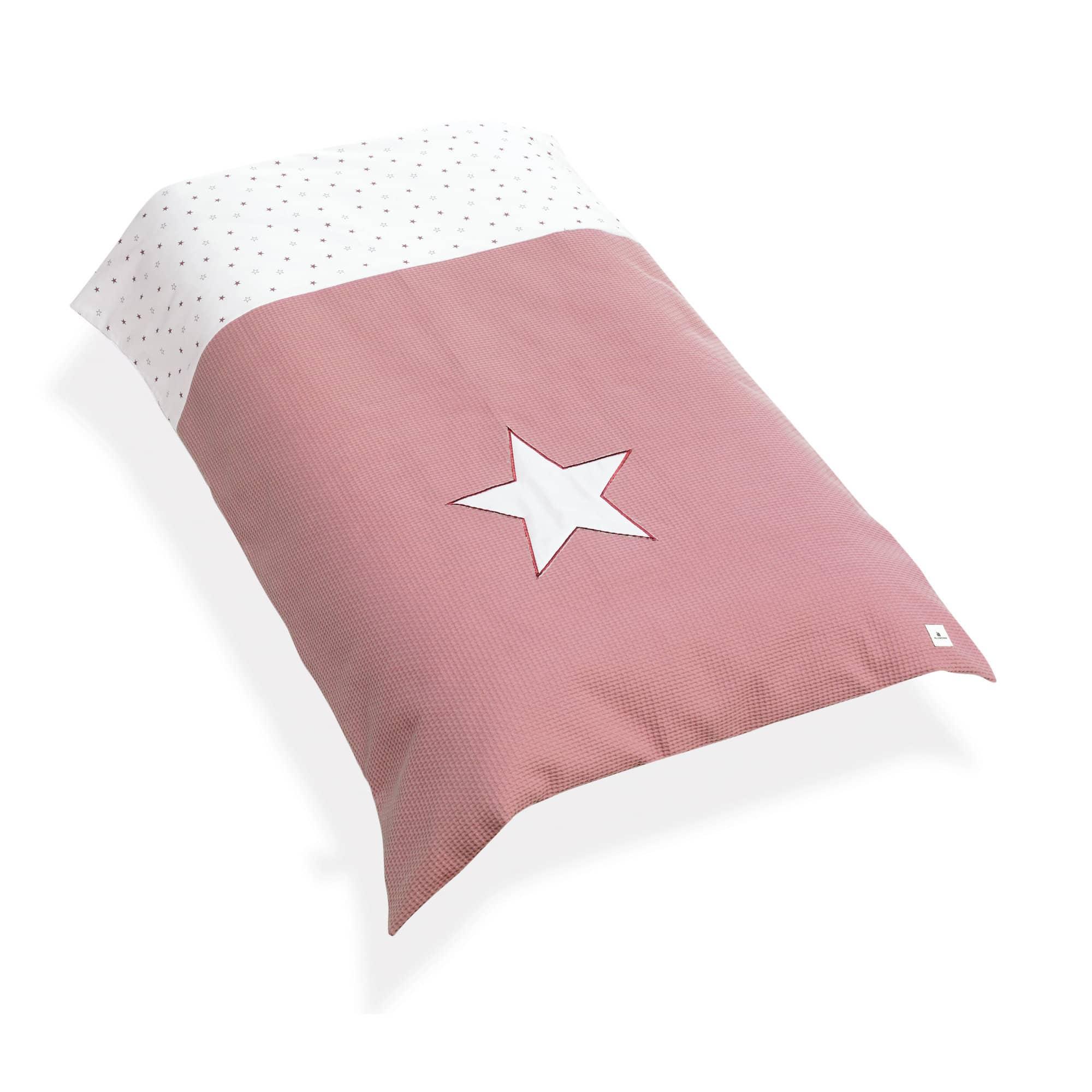 Nórdico de cuna en color rosado y estampado infantil