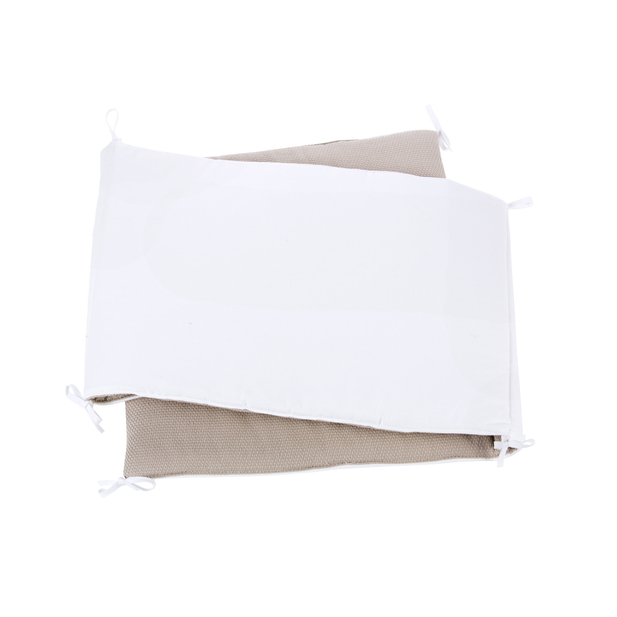 Protector cuna cama transformable 60x120 cm reversible con cintas de unión Arena
