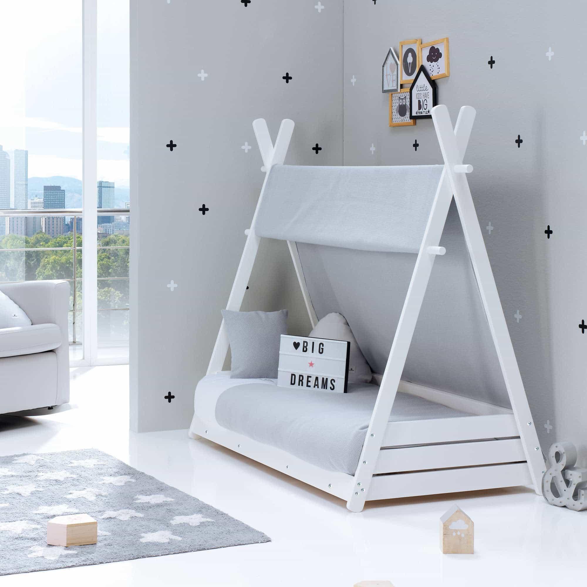 Cama Montessori Homy en gris Alondra