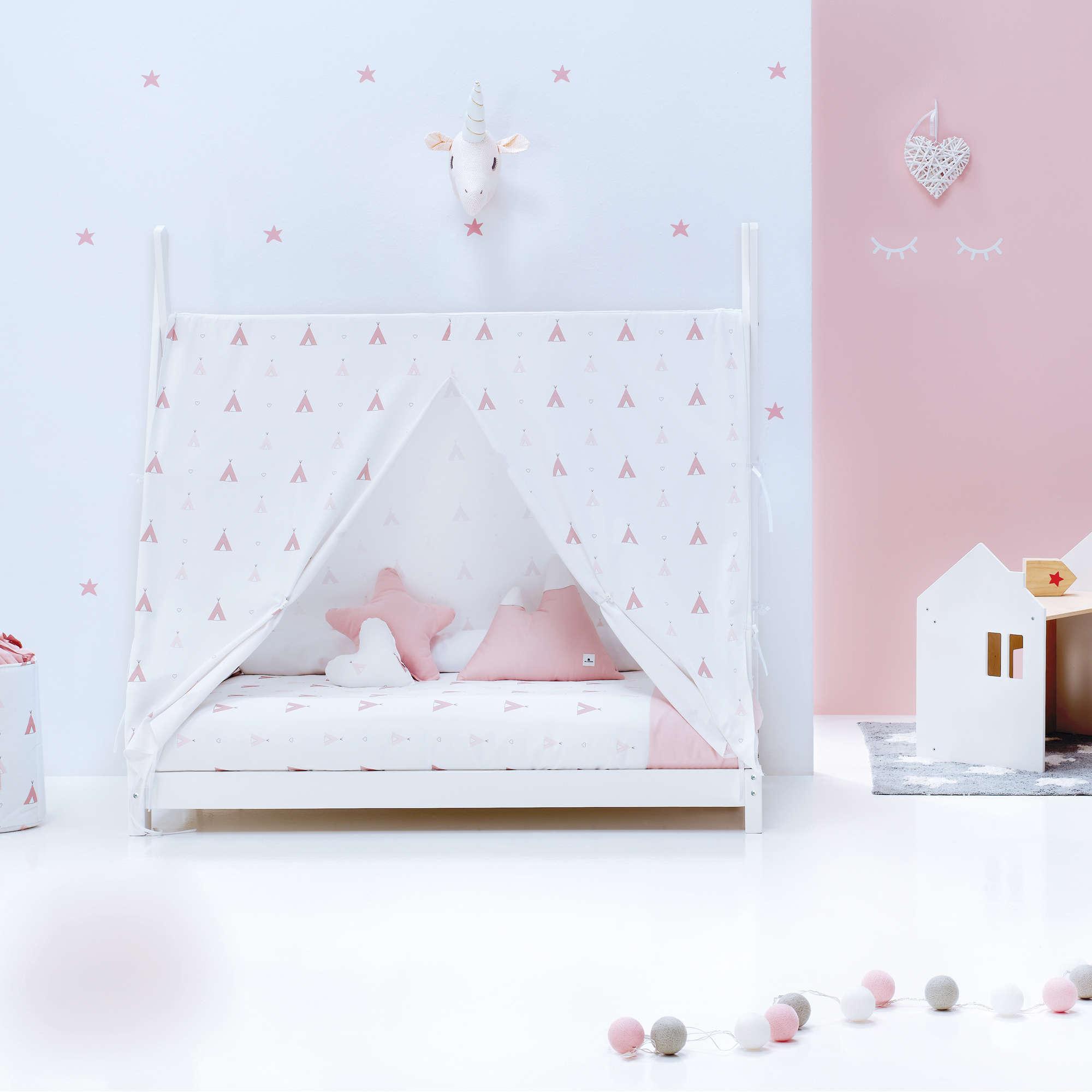 Cama Montessori Indy en rosa para niña Alondra